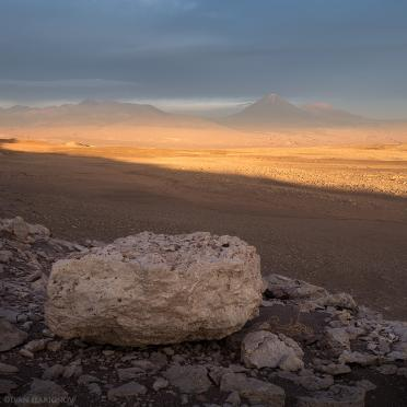 Sunset over Licancabur volcano