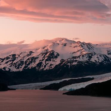 Glaciar Gray sunset